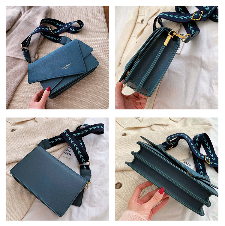 Brand Originality Design Handheld Frosted bag women 2020 new version of Joker shoulder slung fashion broadband small square bag 7
