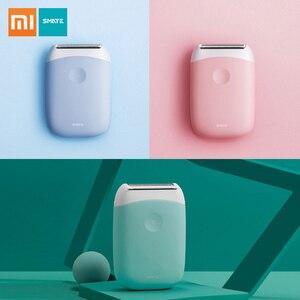 Image 1 - Xiaomi Smate חשמלי אפילציה מיני נייד שיער הסרת גוזם נשים USB נטענת חלק מכונת גילוח עמיד למים אפילציה
