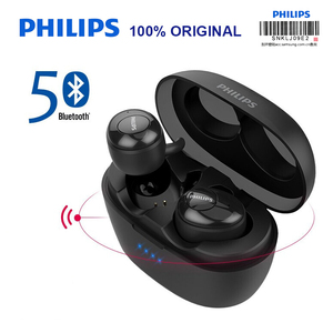 Image 1 - Original PHILIPS SHB2505 Wireless In ear Headset Bluetooth 5.0 HiFi Dual microphone music sport Support official verification
