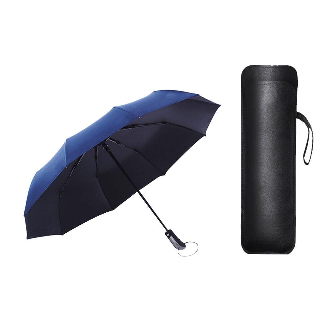 Automatic Compact Travel Umbrella Teflon Auto Open Close Folding Strong Windproof Set Of Buttons Umbrella