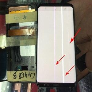 Image 5 - Do Samsung S9 wyświetlacz LCD dotykowy G960 G965 wyświetlacz LCD do Samsung S9 Plus wyświetlacz linii pasma LCD telefon komórkowy wadliwy ekran