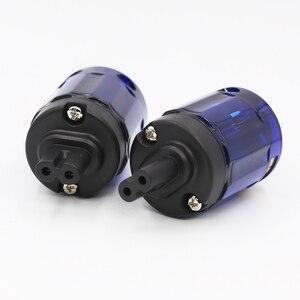 Image 4 - High quality C037 Rhodium plated figure 8 IEC Female socket plug HIFI IEC Connector