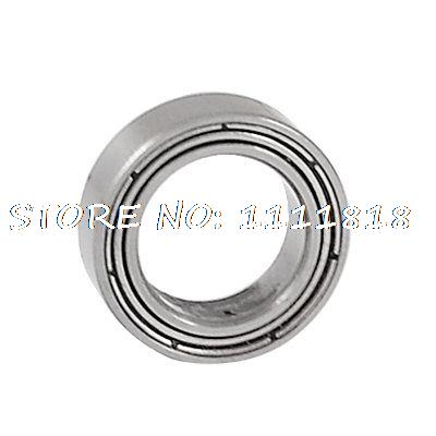 Shielded 9mm X 14mm X 4.5mm Silver Tone Deep Groove Ball Bearing