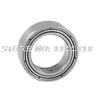Shielded 9mm X 14mm X 4.5mm Silver Tone Deep Groove Ball Bearing