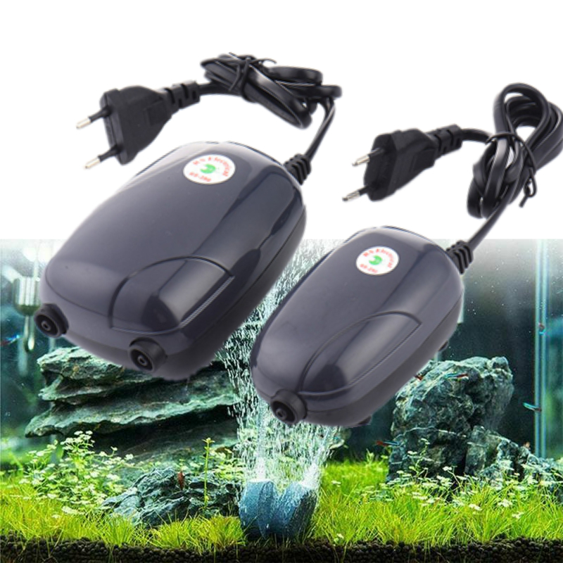 220V 3W 5W Silent Aquarium Oxygen Pump Mini Fish Tank Air Compressor Air Rise Air Pump for Fish Aerator Aquarium Accessories