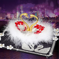 Swan Perfume Seat Crystal Car Decoration Car Interior Accessories Car Accessories Decoration
