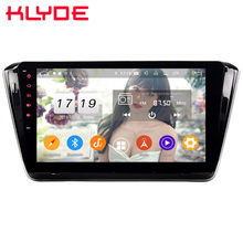"Klyde 10,1 ""IPS 4G Android 9,0 Octa Core 4GB RAM 64GB ROM DSP BT coche DVD reproductor Multimedia Radio para Skoda Superb B8 2015-2019(China)"