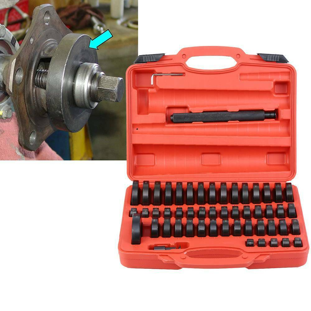 Samger 52pcs Bearing Bushing Seal Driver Push Press Disc Tool Set 18-74mm Bush/Bearing/Seal Driver Set