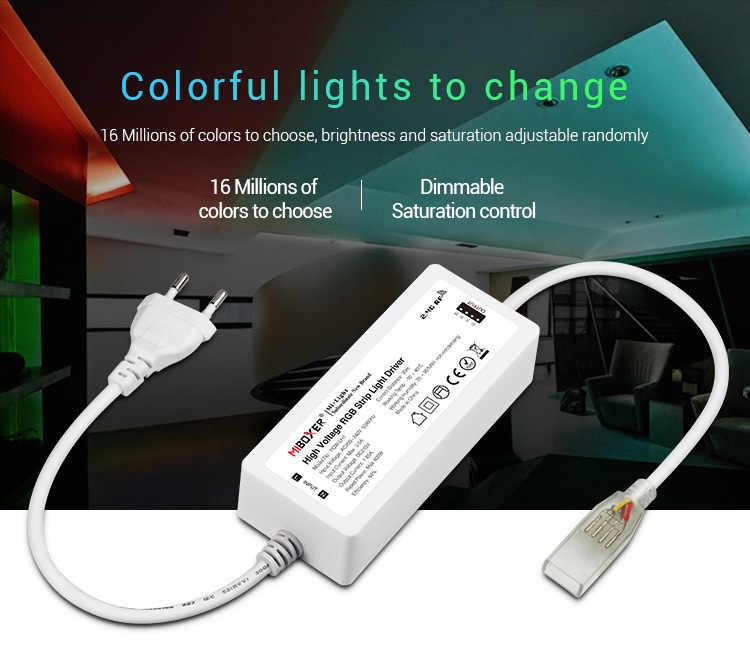 MiBOXER (milight) AC220V POW-LH1 RGB Tira CONDUZIDA Motorista Luz de Alta Tensão de Entrada; Saída DC215V; RGB ânodo comum (4 canal 3 c