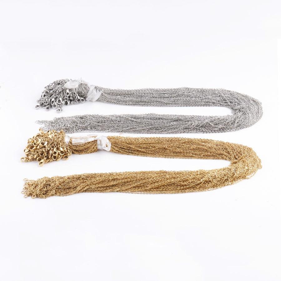 10 teile/los 316L Edelstahl 45cm Länge 1,5mm 2mm Kreuz Link Kette Halskette Fit DIY Anhänger Halskette schmuck, Die Entdeckungen