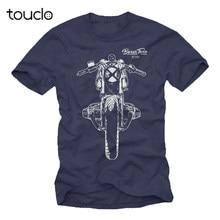 Мотоциклетная футболка мужские синие боксеры кафе гонщик R/80/100/1200 T Байкерский подарок