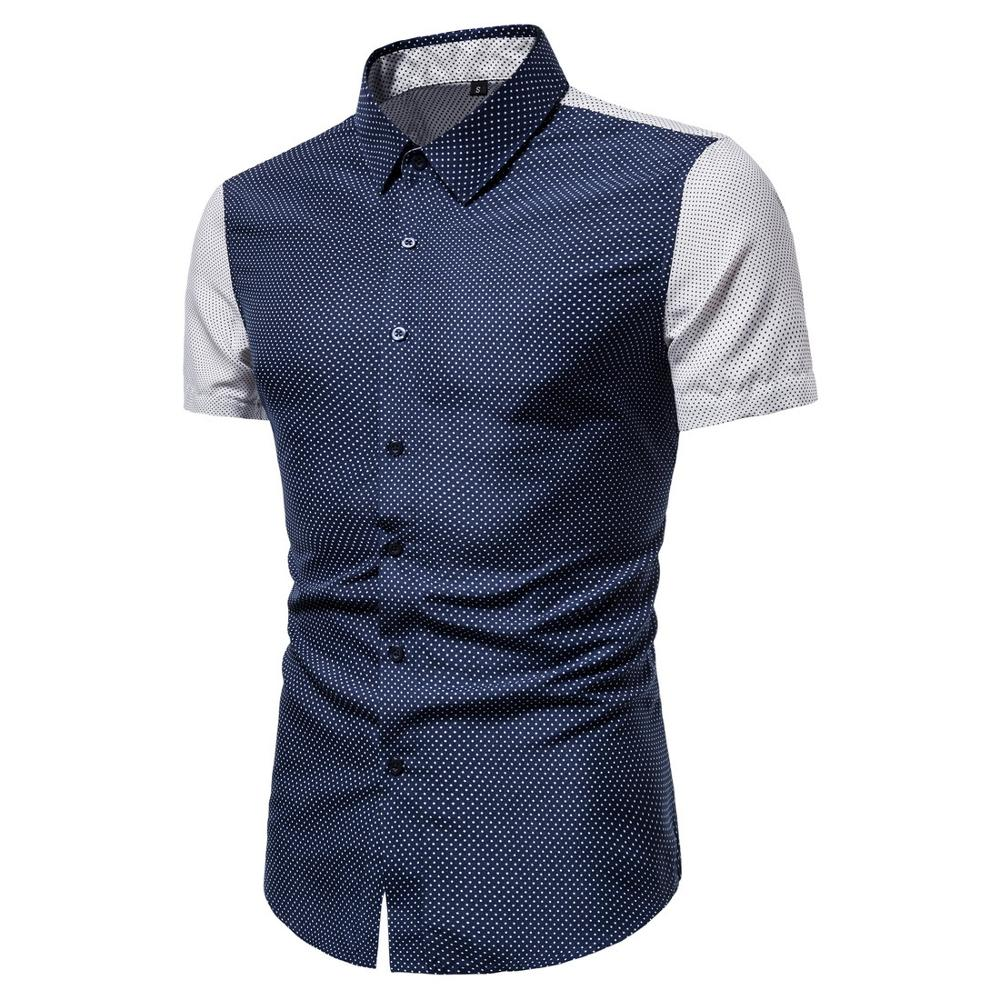 Man Casual Shirt Short Sleeved  Breathes Cool Shirt Loose Streetwear Male Shirts For Men 1