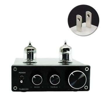 цена на Universal Headphone 6k4 Tube Phono Turntable Adjustable Home Mini HIFI Pre Amplifier Vacumn Preamp Aluminium RIAA