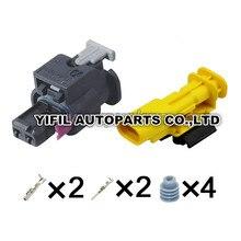 2/5/10/20 takım/grup 2 Pin/yollu erkek ve dişi Tyco yakıt enjektörü fiş yüksek basınçlı pompa Gasbag otomotiv konektörü Audi VW için