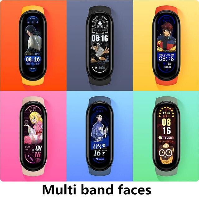 Фитнес-браслет Xiaomi Mi Band 6 с AMOLED экраном, мониторинг пульса и содержания кислорода в крови, водонепроницаемый 4