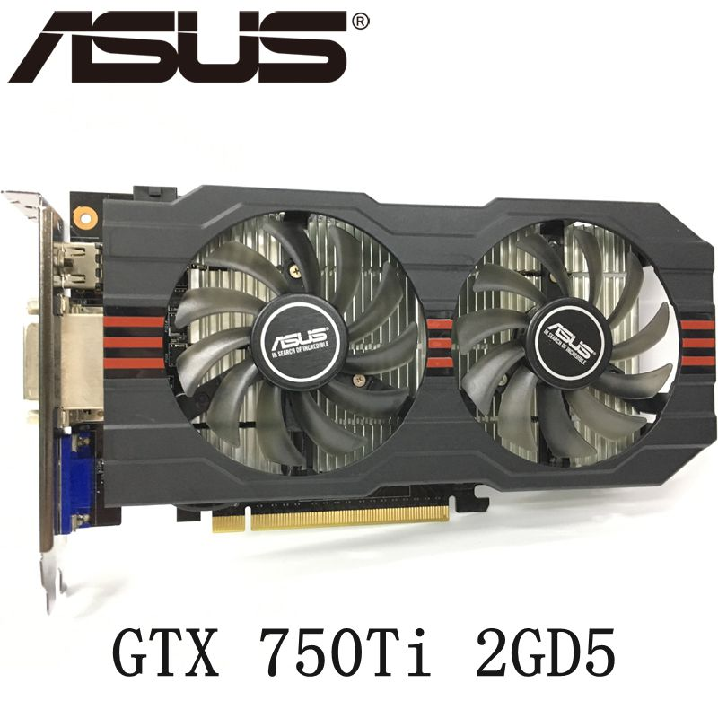 <font><b>ASUS</b></font> <font><b>GTX</b></font> 750 Ti <font><b>2GB</b></font> 128Bit GDDR5 Video Cards for nVIDIA Geforce <font><b>GTX</b></font> <font><b>750Ti</b></font> VGA Cards GTX750TI Used Graphics Card image