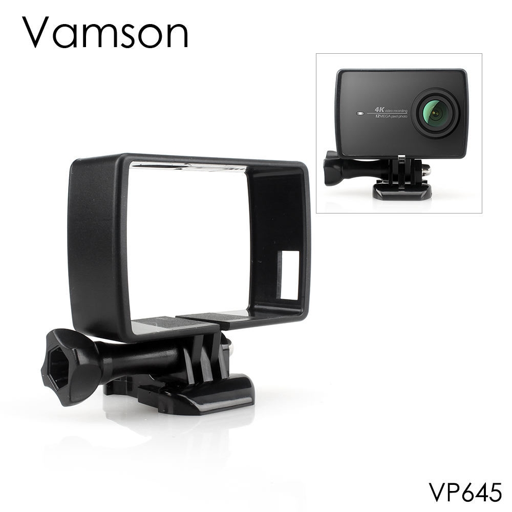 Vamson For YI 4K Housing Side Mount Protect Frame Case For Xiaomi YI 4K Action Camera 2 With Mount Base And Screw VP645