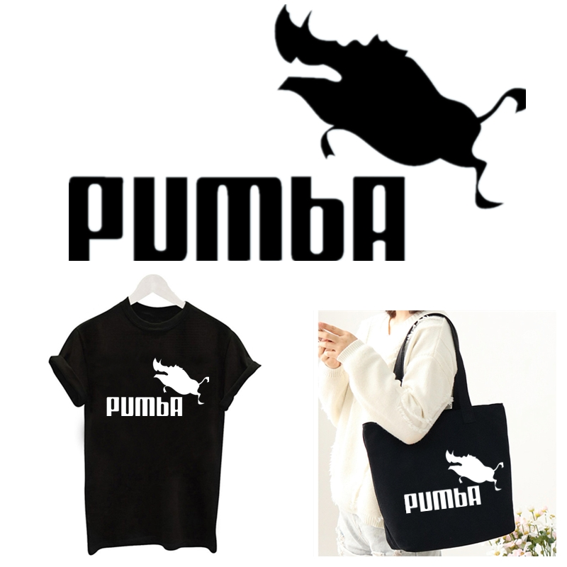 2019 Fashion Patches Black White PUMBA Letter DIY Patch For Clothing Sticker For Men Women T-shirt Heat Transfer TH340-343