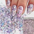 Блестки для ногтей 12 цветов Смешанная пудра Блестки для ногтей Блестящий макияж блестящая Пыль для дизайна ногтей набор для украшения ногт...
