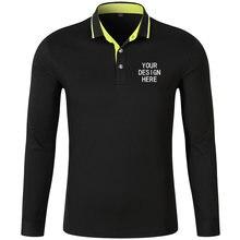 Рубашка поло с длинным рукавом вышивкой или принтом на заказ
