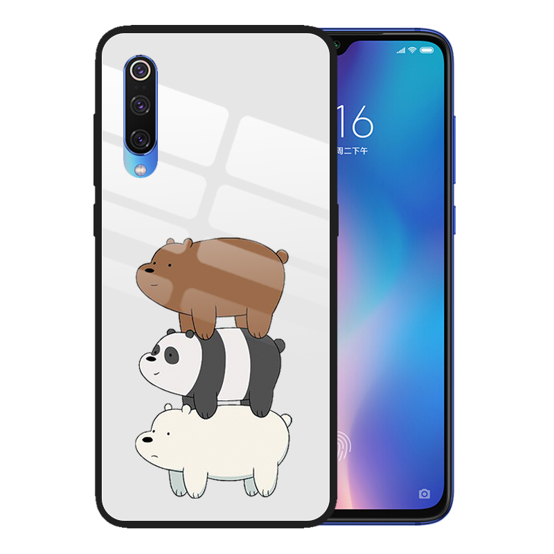 for Xiaomi <font><b>Mi</b></font> <font><b>9</b></font> 9T CC9 CC9E Pro <font><b>SE</b></font> 8 Lite <font><b>Mi</b></font> Mix 3 A3 Lite A2 A1 6X POCO F1 Tempered Glass <font><b>Cases</b></font> Cartoon Cute Bare Bears Cover image