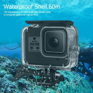 Image 3 - 60m Housing Shell For GoPro HERO 8 Black Hard Protective Cage Case For Go Pro Hero8 2019 sports Camera Accessories