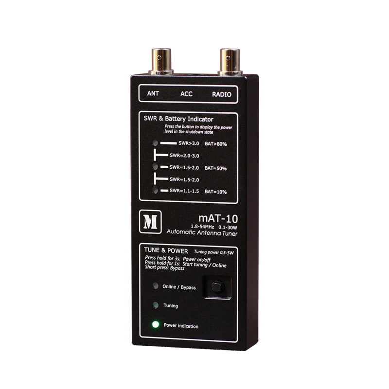 Latest Version MAT-10 HF Automatic Antenna Tuner For YEASU FT-817 FT-818 QRP Transceiver 0.1-30W