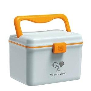 Mini Medical Box Medical Suitcase Plastic Medical Storage Box Home Organizer Box Storage Organizer Plastic Containers -