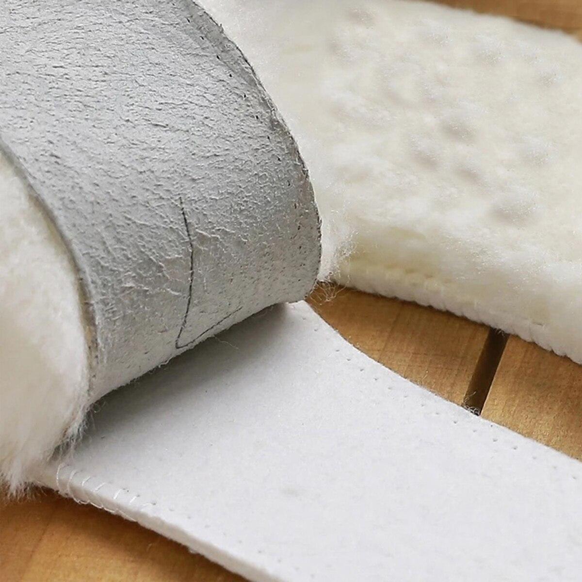 Semelles en peau de mouton naturelle cachemire thermique bottes de neige en peau de mouton coussin de chaussure vraie fourrure laine adulte enfants chaussures d'hiver chaud surdimensionné