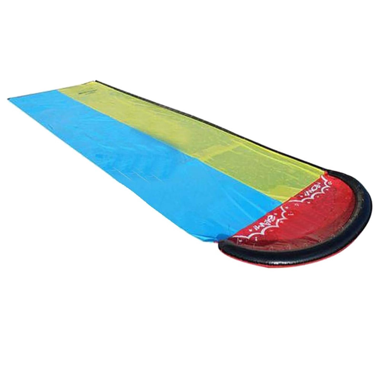 Double Surf WaterSlide Children Summer Lawn Slides Outdoor Garden Backyard Fun Water Games Slider Spray Sprinkler Toyc