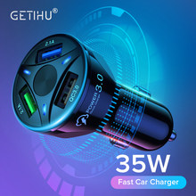 GETIHU 35W podwójna ładowarka samochodowa USB szybkie ładowanie szybka ładowarka do telefonu iPhone 12 11 Pro Max 6 7 8 Plus Xiaomi Redmi Huawei