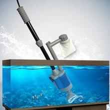 20W 28W אוטומטי אקווריום מים מחליף משאבת האקווריום חצץ מנקה ניקוי כלי חול מכונת כביסה מסנן לשאוב 110v 220v