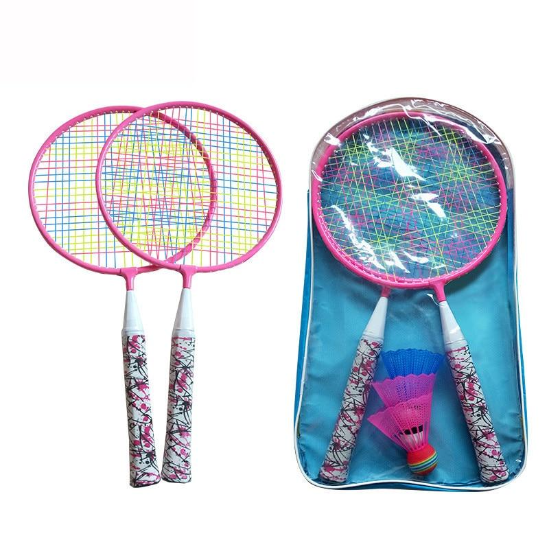 Children's Badminton Racket 3-12 Years Old Pupils Beginners Primary Resistance Badminton Double Shot Outdoor Sports Racquet