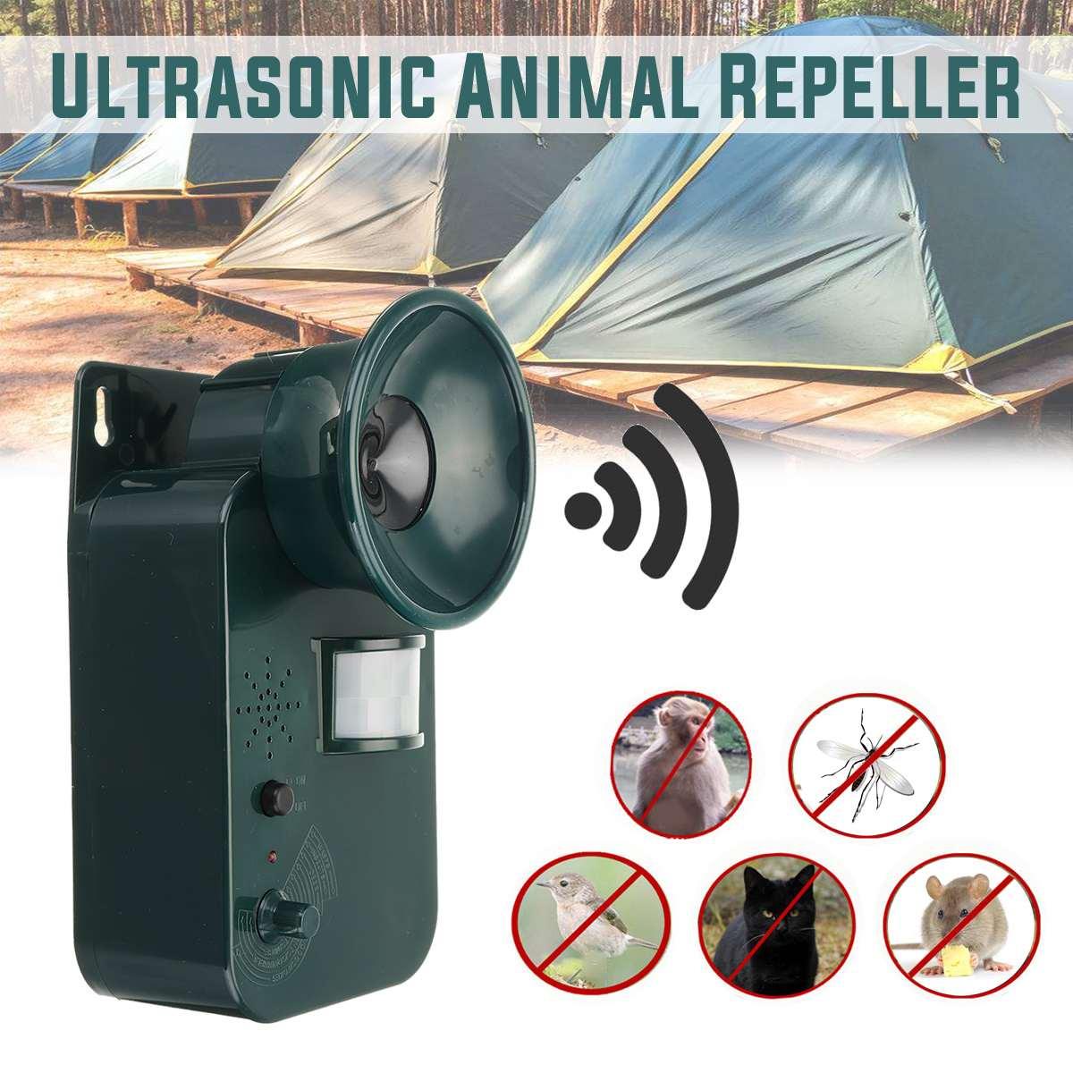 Portable Waterproof Harmless Safe Outdoor Indoor Ultrasonic Animal Rodent Cat Repeller Pest Dog Fox Deterrent Chasers Repellent