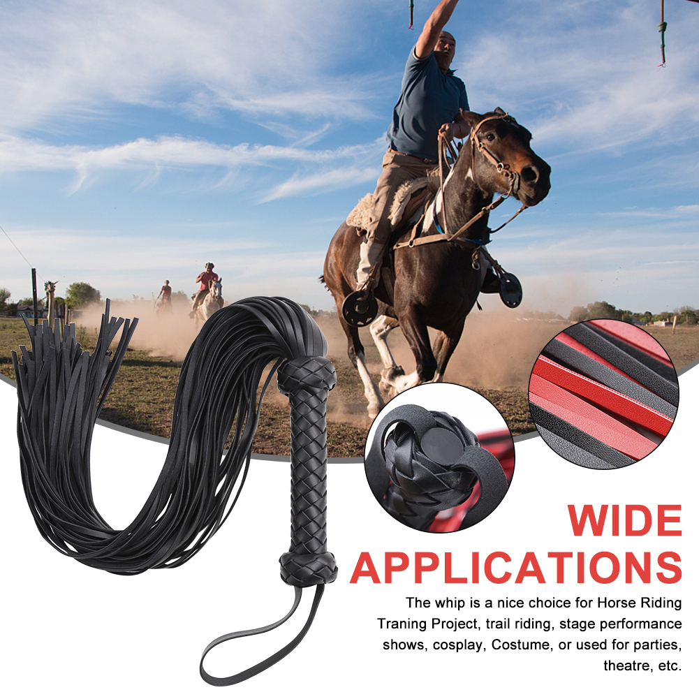 Outdoor Sports Lightweight Racing Role Play PU Leather Equestrian Bed Game Training Horse Riding Whip Portable Bondage Flogger