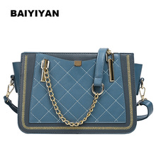Luxury Rivet Handbag Women Bag Designer Brand Metal Chain Tote Bags Casual PU Leather Crossbody Bag metal ring pu leather tote bag