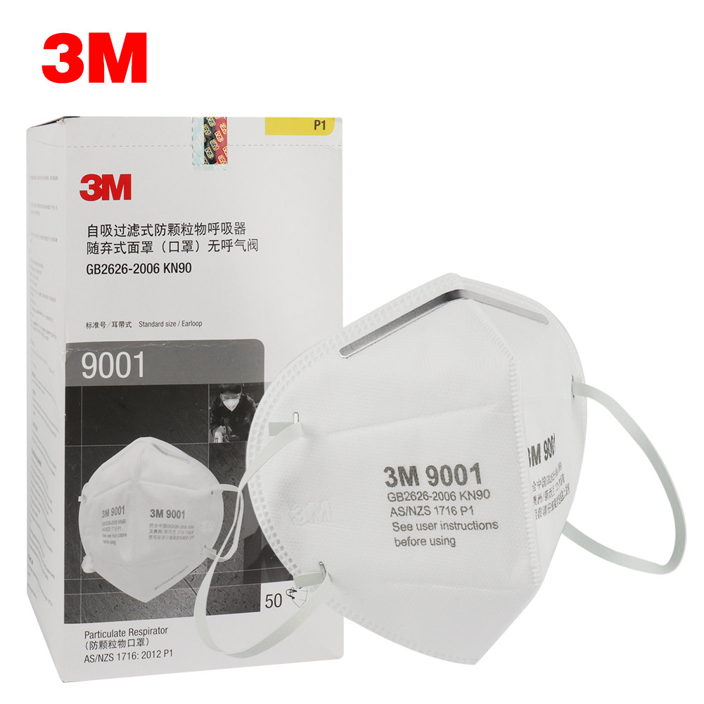 10Pcs 3M 9001 Particulate Respirator Protective Masks Safety Mask PM2.5 Smog Haze Dustproof Safe Protect Anti-Dust Outdoor