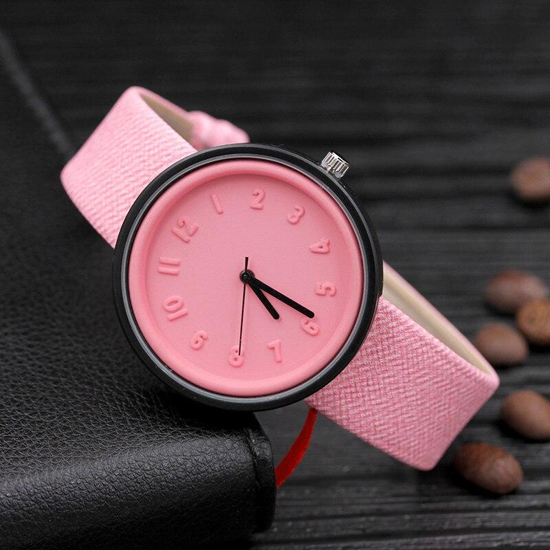 Fashion Women Waches Pink Ladies Watches Leather Band Quartz Wristwatch Dames Horloge Reloj Mujer Montre Femme Zegarek Damski