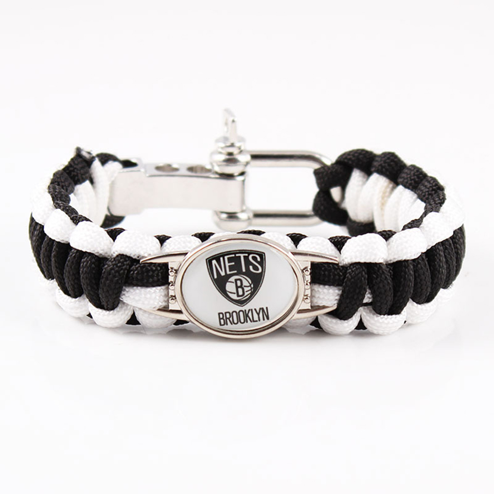 City Basketball Knit Bracelet Contracted Fashion Colored Rope Braiding Famous Basketball Team Charm Men Bracelet Men Jewelry in Charm Bracelets from Jewelry Accessories