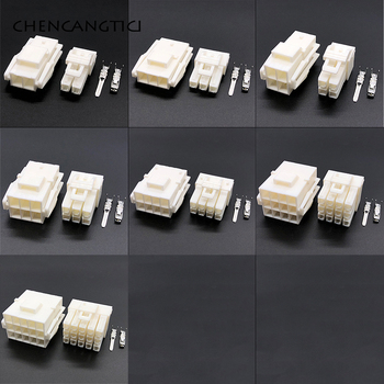 цена на 1 set 2 3 4 6 8 12 15 pin way YL wire-to-wire electrical car connector kits AMP JST male female auto cable plug with terminals