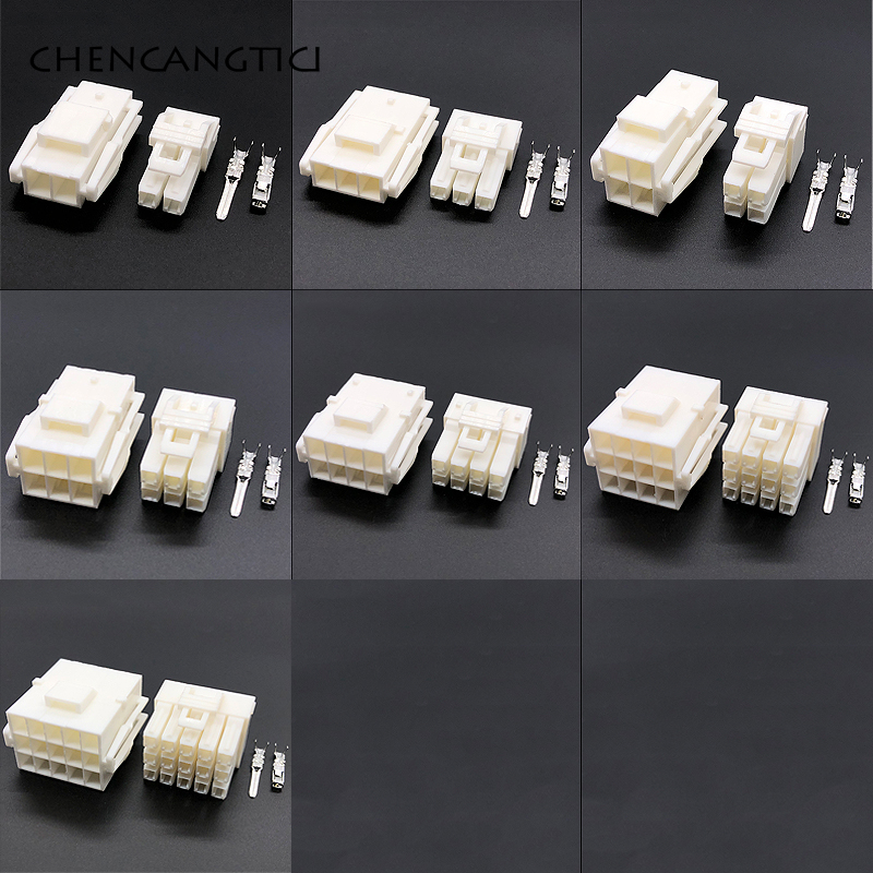 1 set 2/3/4/6/8/<font><b>12</b></font>/15 <font><b>pin</b></font>/way YL wire-to-wire electrical car connector kits AMP JST male female auto <font><b>cable</b></font> plug with terminals image