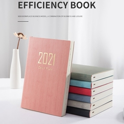 2021 Schedule Full English inside page Of A5 Efficiency Manual plan Notebook Manual book record -A5