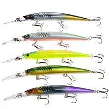 5pcs Fishing Lures Minnow crankbait 12.6 g 145mm Pesca Artificial Bait Bass Carp Sea Fishing Wobbler Fake Lure Tackle