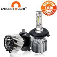 CNSUNNYLIGHT araba LED far ampulü H7 H4 H11 H8 9005 9006 H1 H3 880 H13 9004 9007 w/net aydınlatma hattı 8500LM beyaz DC 12V 24V
