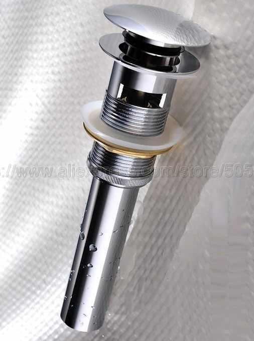 Kamar Mandi Toilet Dipoles Chrome Basin Wastafel Drain Pop Up Parut Limbah Drainer Waterlet Saluran Air dengan Overflow Lubang Zsd019