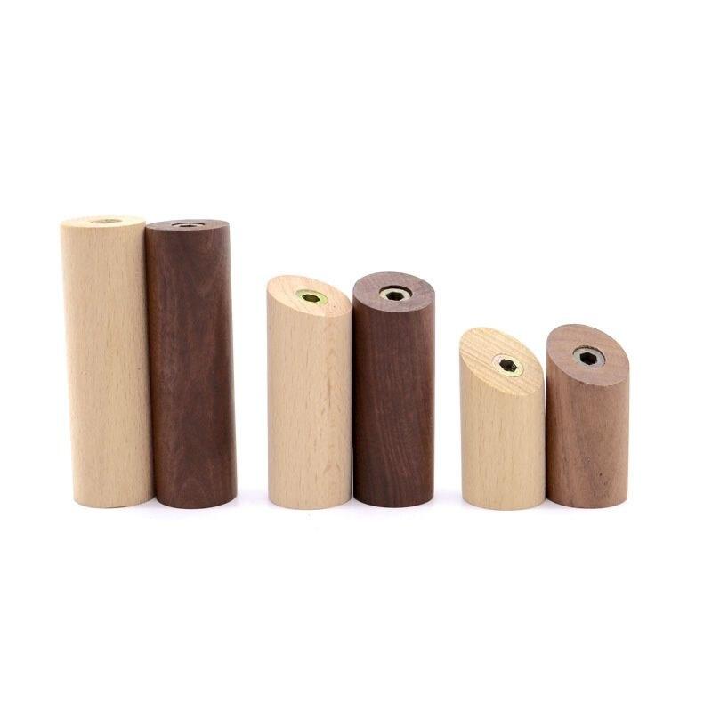 New Wood Wall Hook Cylinder Column Wall Decoration Walnut Wood Hooks Solid Mounted Towel Hanger Bathroom Kitchen