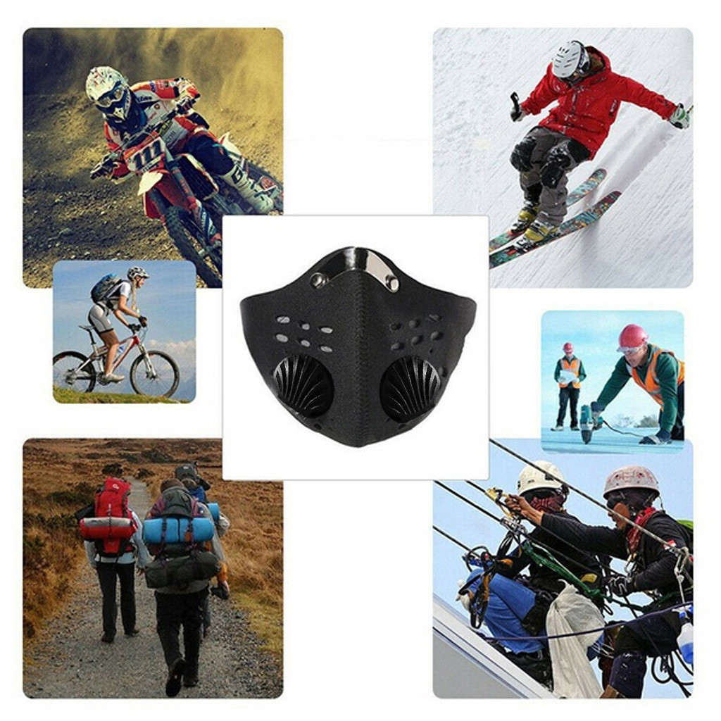 Hc76dd857539e404abb5ed6558946c05aB Shipping To The Us Activated Reusable Carbon Filter Windproof Dust-proof Outdoor Sports Bibs Running Cycling Dust Filter