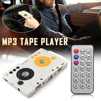 Przenośny odtwarzacz MP3 taśma Vintage kaseta SD MMC Adapter pilot Stereo Audio odtwarzacz kasetowy USB SD karta MMC czytnik ue tanie i dobre opinie Ai CAR FUN s5556 63 x 102 x 11 5mm Other 170g WHITE Angielski Mini MP3 Tape Player Support