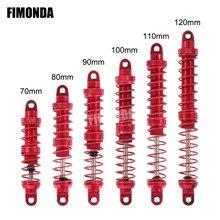 FIMONDA 4 шт. двойные Пружинные металлические удары красный 70 мм 80 мм 90 мм 100 мм 110 мм 120 мм для 1/10 RC Crawler Traxxas TRX4 TRX6 Axial SCX10 III