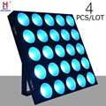 Led 25x10w matrix stage light RGB wash dmx control multi effect lights high quality dj lighting for disco bar event 4pcs/lot|Stage Lighting Effect| |  -